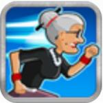 愤怒的老奶奶快跑