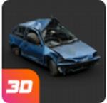 碰撞测试模拟器销毁汽车